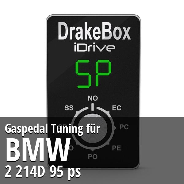 Gaspedal Tuning Bmw 2 214D 95 ps
