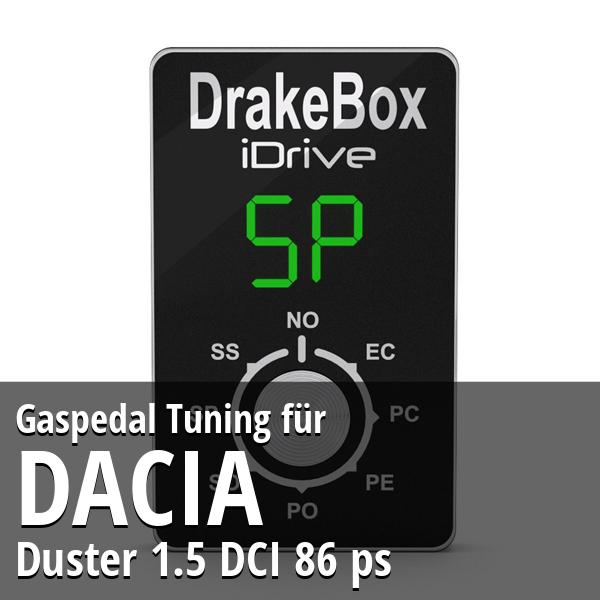 Gaspedal Tuning Dacia Duster 1.5 DCI 86 ps