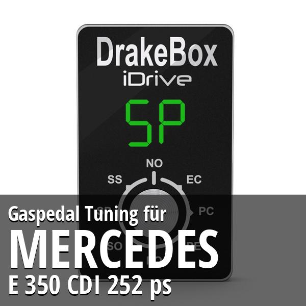 Gaspedal Tuning Mercedes E 350 CDI 252 ps