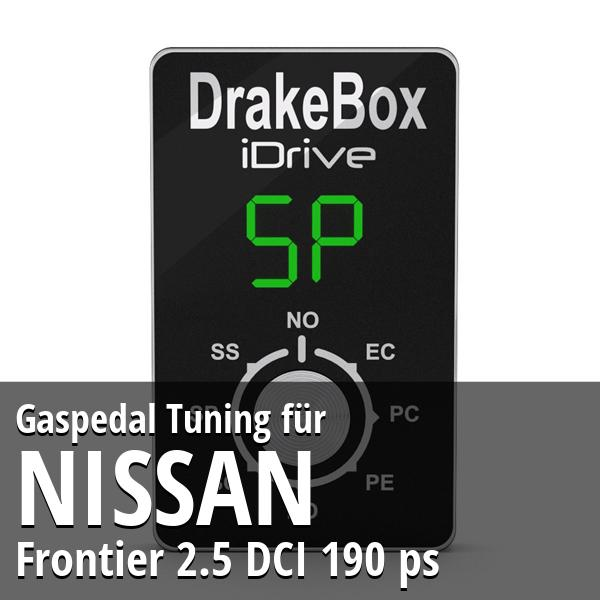 Gaspedal Tuning Nissan Frontier 2.5 DCI 190 ps