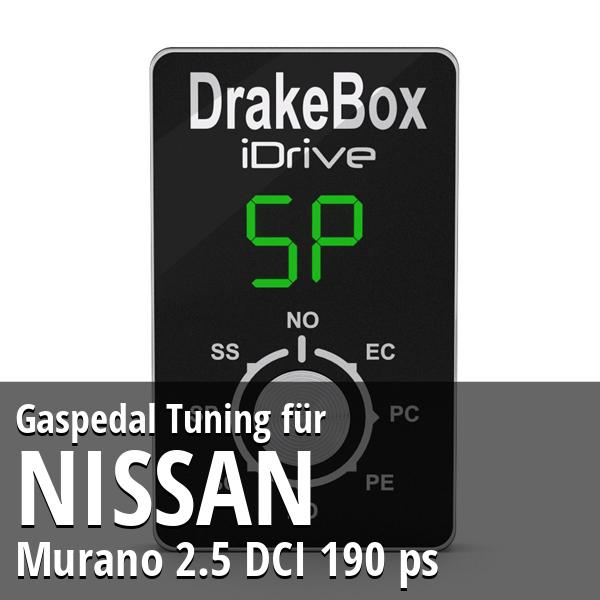 Gaspedal Tuning Nissan Murano 2.5 DCI 190 ps
