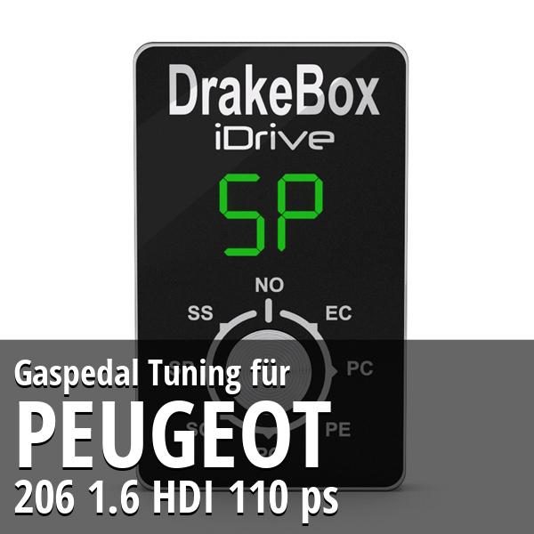 Gaspedal Tuning Peugeot 206 1.6 HDI 110 ps