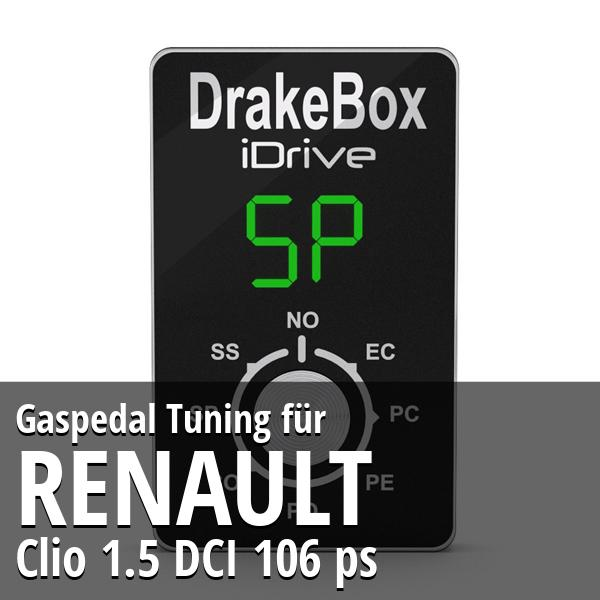 Gaspedal Tuning Renault Clio 1.5 DCI 106 ps