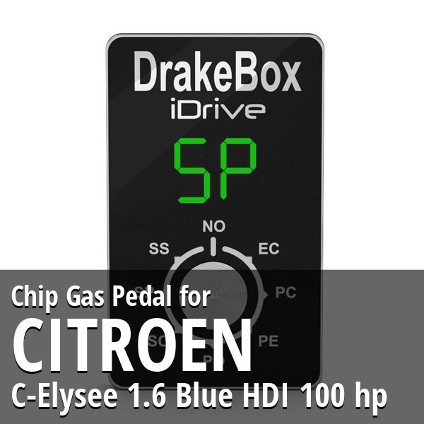 Chip Citroen C-Elysee 1.6 Blue HDI 100 hp Gas Pedal