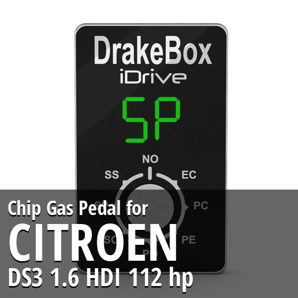 Chip Citroen DS3 1.6 HDI 112 hp Gas Pedal