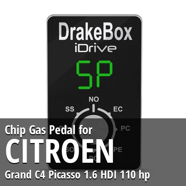 Chip Citroen Grand C4 Picasso 1.6 HDI 110 hp Gas Pedal