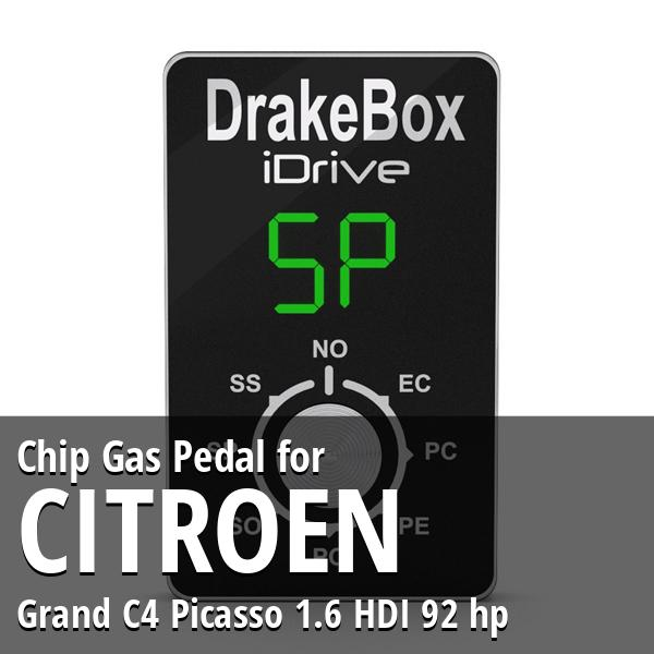 Chip Citroen Grand C4 Picasso 1.6 HDI 92 hp Gas Pedal