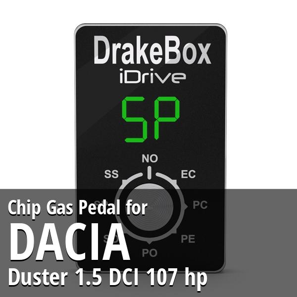Chip Dacia Duster 1.5 DCI 107 hp Gas Pedal