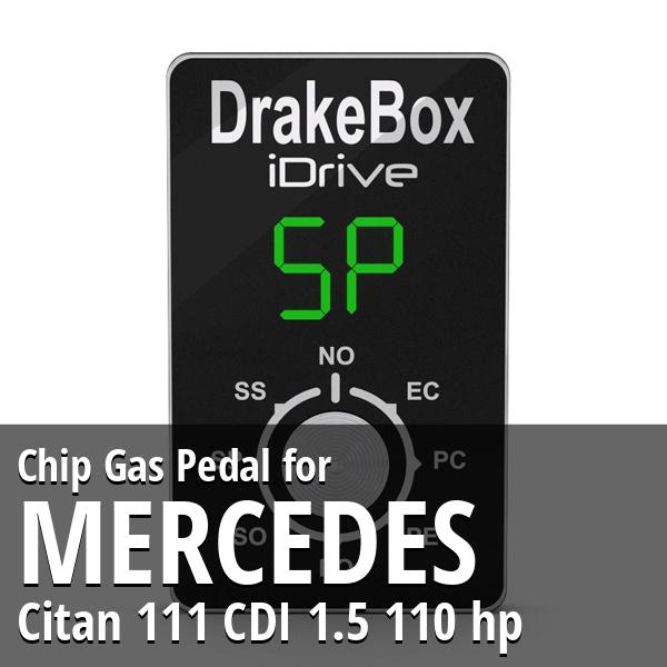 Chip Mercedes Citan 111 CDI 1.5 110 hp Gas Pedal