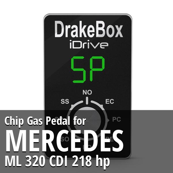 Chip Mercedes ML 320 CDI 218 hp Gas Pedal