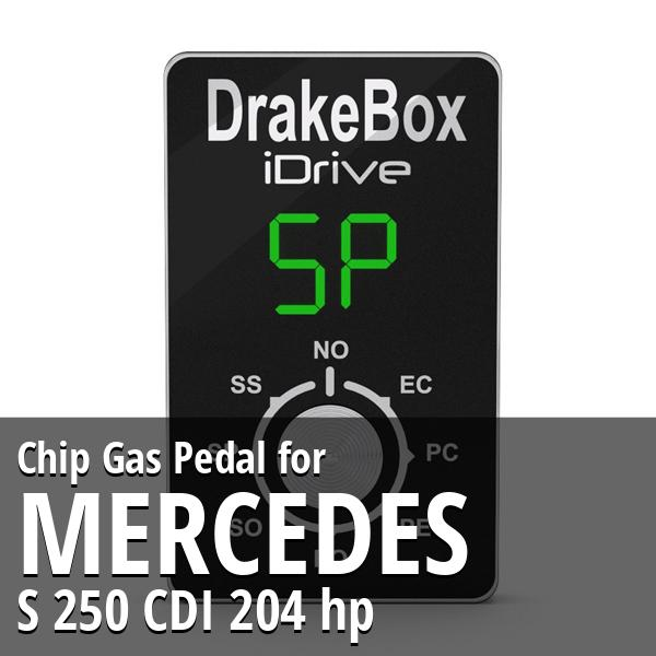 Chip Mercedes S 250 CDI 204 hp Gas Pedal