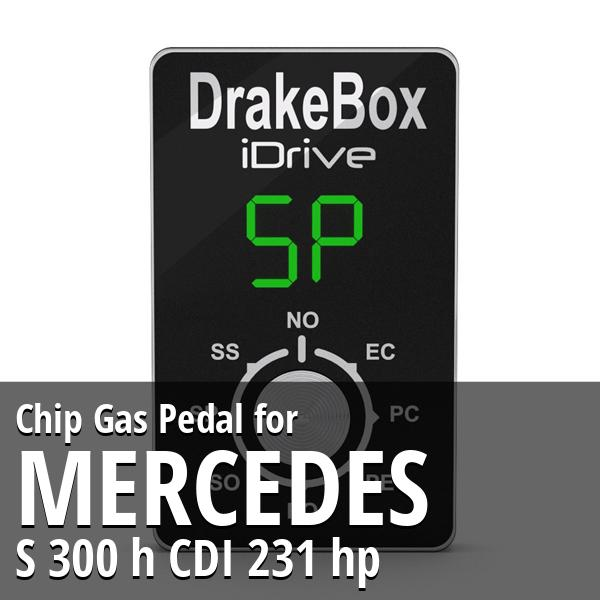 Chip Mercedes S 300 h CDI 231 hp Gas Pedal