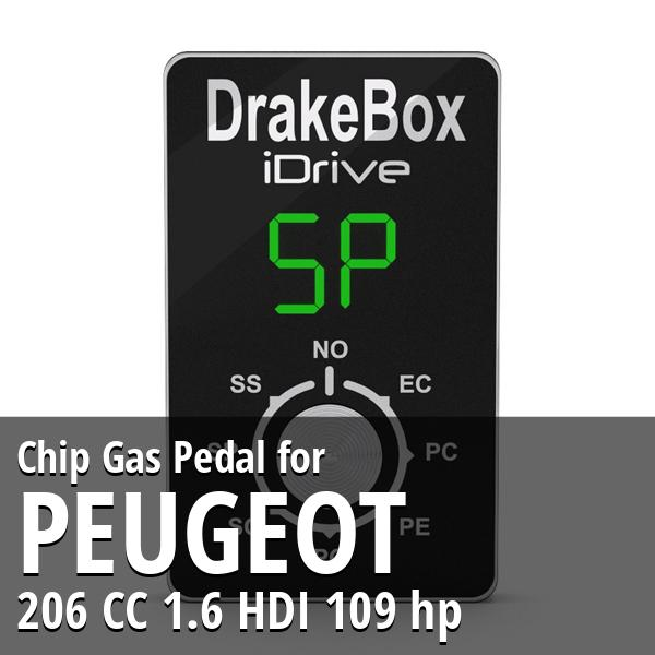 Chip Peugeot 206 CC 1.6 HDI 109 hp Gas Pedal