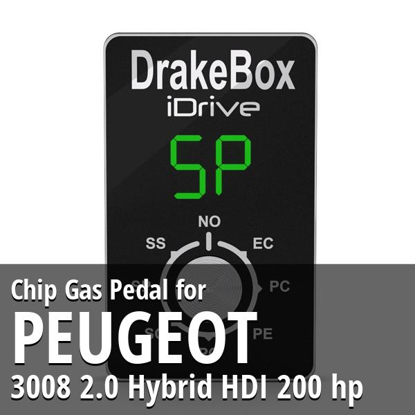 Chip Peugeot 3008 2.0 Hybrid HDI 200 hp Gas Pedal