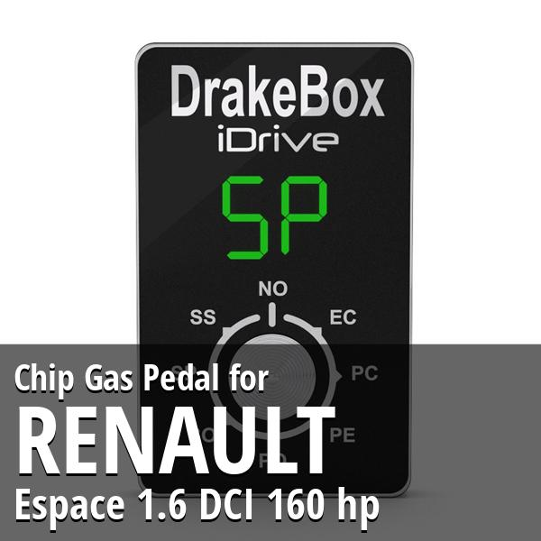 Chip Renault Espace 1.6 DCI 160 hp Gas Pedal