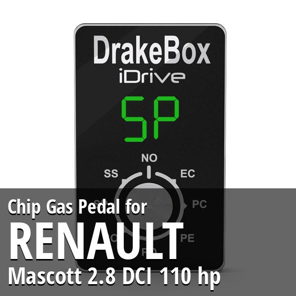 Chip Renault Mascott 2.8 DCI 110 hp Gas Pedal