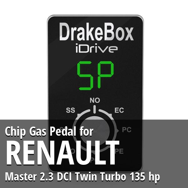 Chip Renault Master 2.3 DCI Twin Turbo 135 hp Gas Pedal