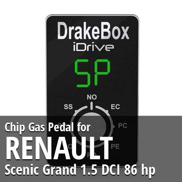 Chip Renault Scenic Grand 1.5 DCI 86 hp Gas Pedal
