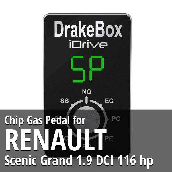 Chip Renault Scenic Grand 1.9 DCI 116 hp Gas Pedal