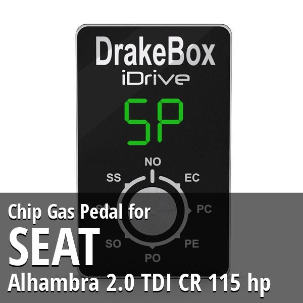Chip Seat Alhambra 2.0 TDI CR 115 hp Gas Pedal