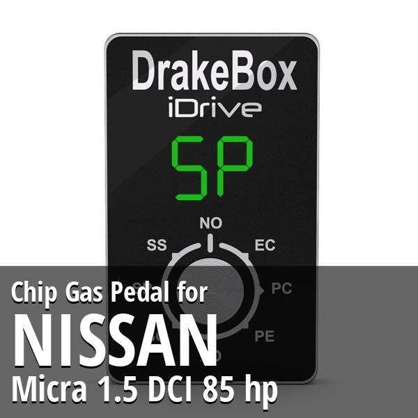 Chip Nissan Micra 1.5 DCI 85 hp Gas Pedal