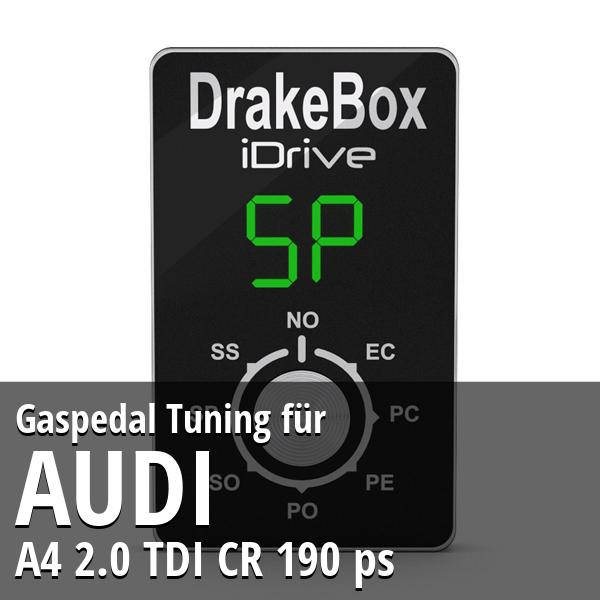 Gaspedal Tuning Audi A4 2.0 TDI CR 190 ps