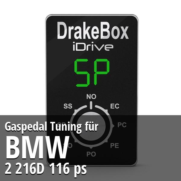 Gaspedal Tuning Bmw 2 216D 116 ps
