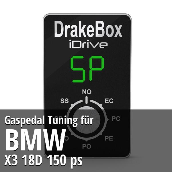Gaspedal Tuning Bmw X3 18D 150 ps