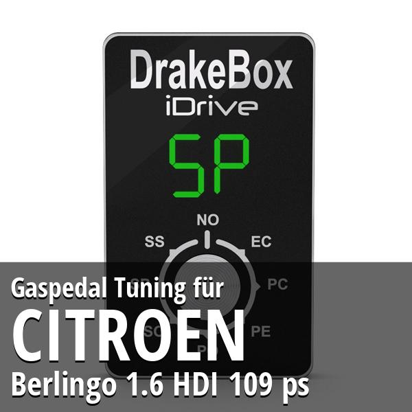 Gaspedal Tuning Citroen Berlingo 1.6 HDI 109 ps