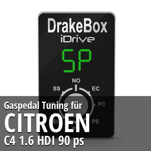 Gaspedal Tuning Citroen C4 1.6 HDI 90 ps