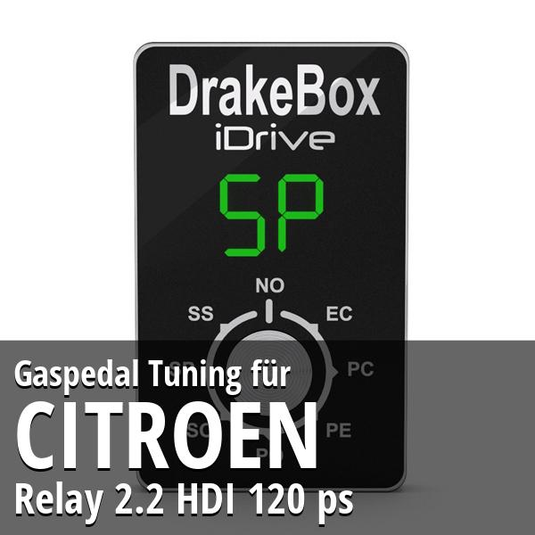 Gaspedal Tuning Citroen Relay 2.2 HDI 120 ps