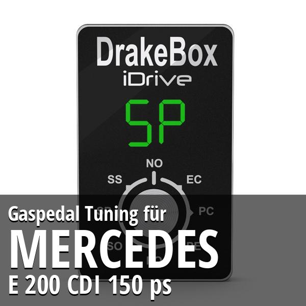 Gaspedal Tuning Mercedes E 200 CDI 150 ps