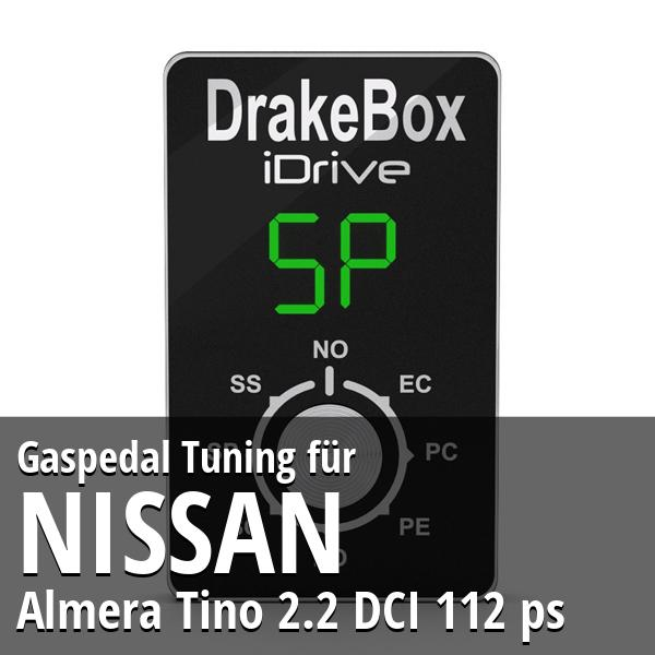 Gaspedal Tuning Nissan Almera Tino 2.2 DCI 112 ps