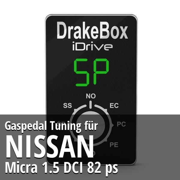 Gaspedal Tuning Nissan Micra 1.5 DCI 82 ps