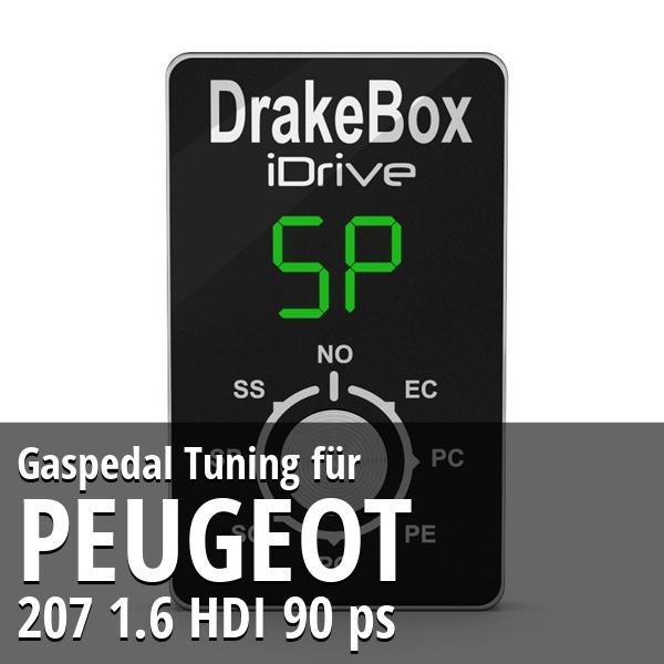 Gaspedal Tuning Peugeot 207 1.6 HDI 90 ps