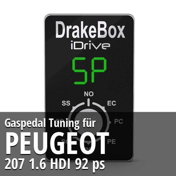 Gaspedal Tuning Peugeot 207 1.6 HDI 92 ps