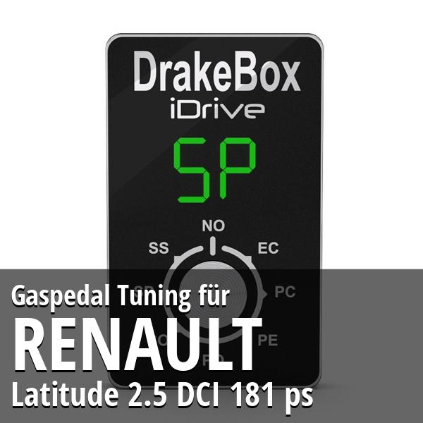 Gaspedal Tuning Renault Latitude 2.5 DCI 181 ps