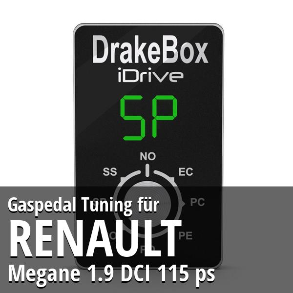 Gaspedal Tuning Renault Megane 1.9 DCI 115 ps
