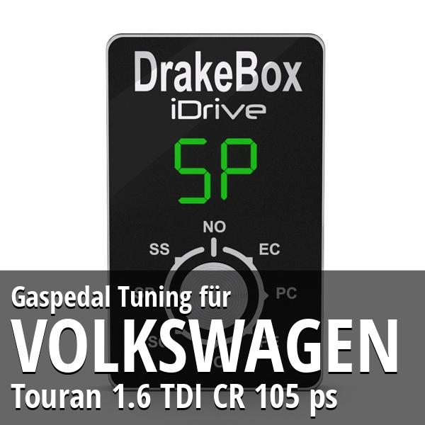 Gaspedal Tuning Volkswagen Touran 1.6 TDI CR 105 ps