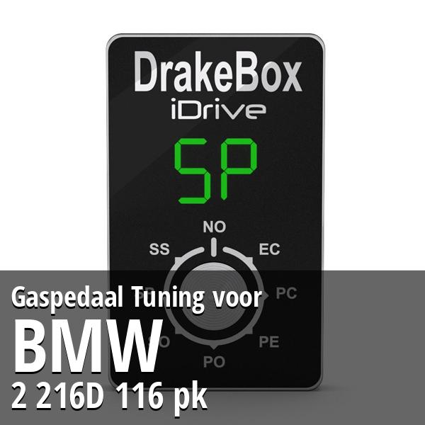 Gaspedaal Tuning Bmw 2 216D 116 pk