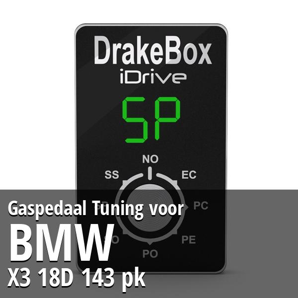 Gaspedaal Tuning Bmw X3 18D 143 pk