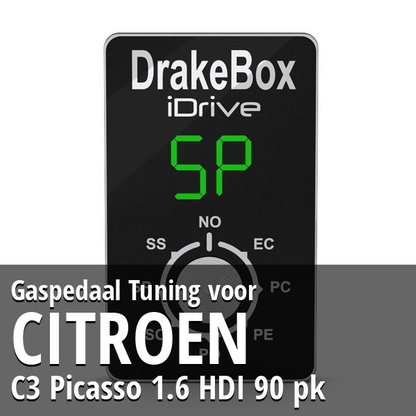 Gaspedaal Tuning Citroen C3 Picasso 1.6 HDI 90 pk