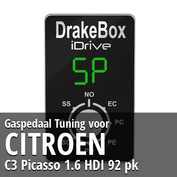 Gaspedaal Tuning Citroen C3 Picasso 1.6 HDI 92 pk