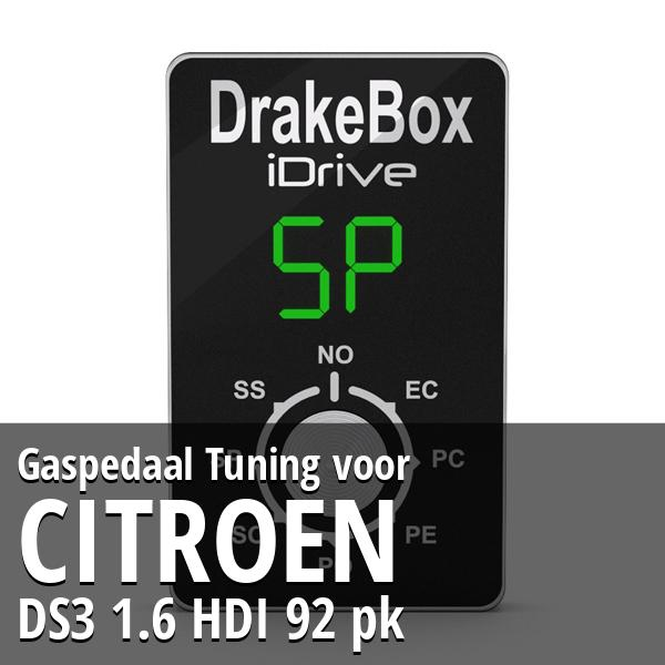Gaspedaal Tuning Citroen DS3 1.6 HDI 92 pk