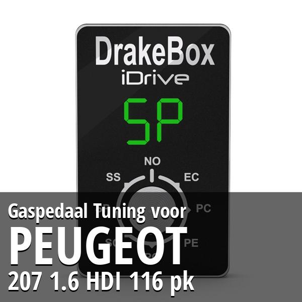 Gaspedaal Tuning Peugeot 207 1.6 HDI 116 pk