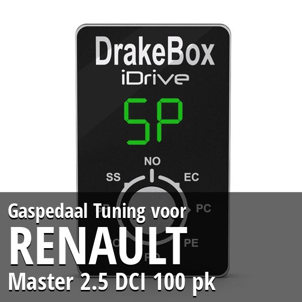 Gaspedaal Tuning Renault Master 2.5 DCI 100 pk