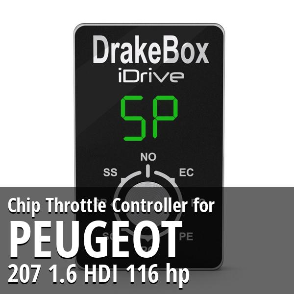 Chip Peugeot 207 1.6 HDI 116 hp Throttle Controller
