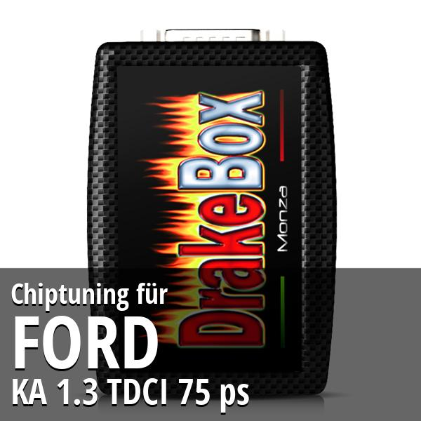 Chiptuning Ford KA 1.3 TDCI 75 ps