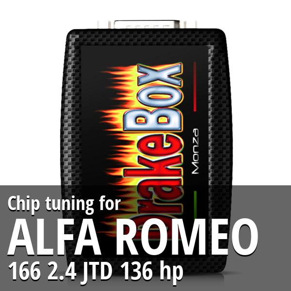 Chip tuning Alfa Romeo 166 2.4 JTD 136 hp