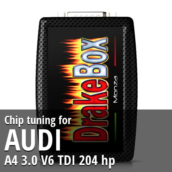 Chip tuning Audi A4 3.0 V6 TDI 204 hp